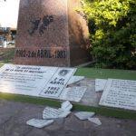 Chaco: Rompen monumento a Héroes de Malvinas