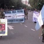 Veteranos de Malvinas desfilaron el 25 de mayo