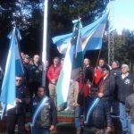 Tras el ataque de los mapuches, reemplazaron la bandera quemada