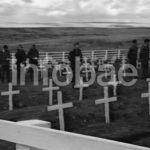 Se conocen imágenes del funeral de nuestros héroes en Malvinas