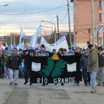 Marcha en Río Grande, el 10 de junio pasado...