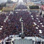 """Una multitud unida en Luján, para gritar fuerte """"Vale Toda Vida"""""""