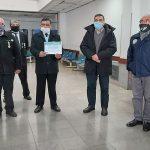 Veteranos de Malvinas donaron equipos de desinfección al hospital Materno Infantil de Salta