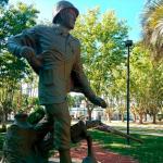 Gral. Las Heras: Indignación por vandalismo en monumento a Héroes de Malvinas