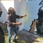 Gral Alvear: Realizan murales en plazoleta Las Malvinas en honor a Veteranos